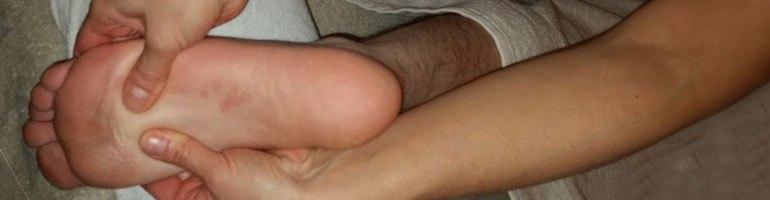 Ontspannende voet-onderbeen massage
